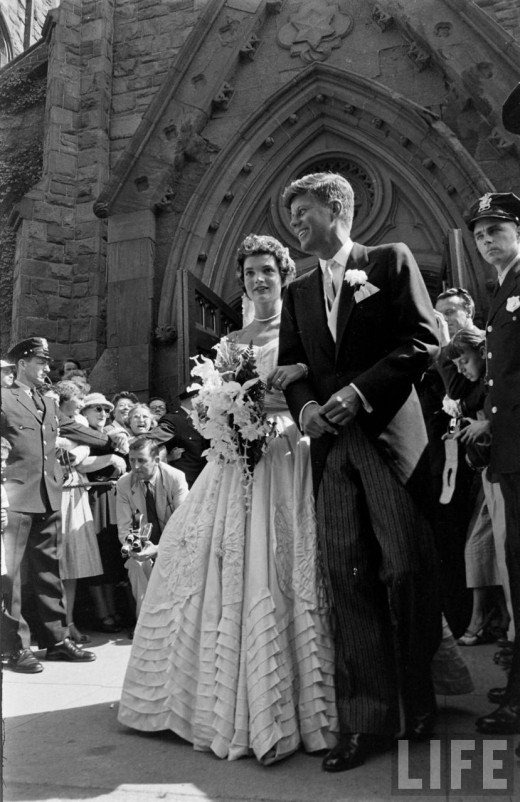 JFK and Jackie Kennedy Wedding Day