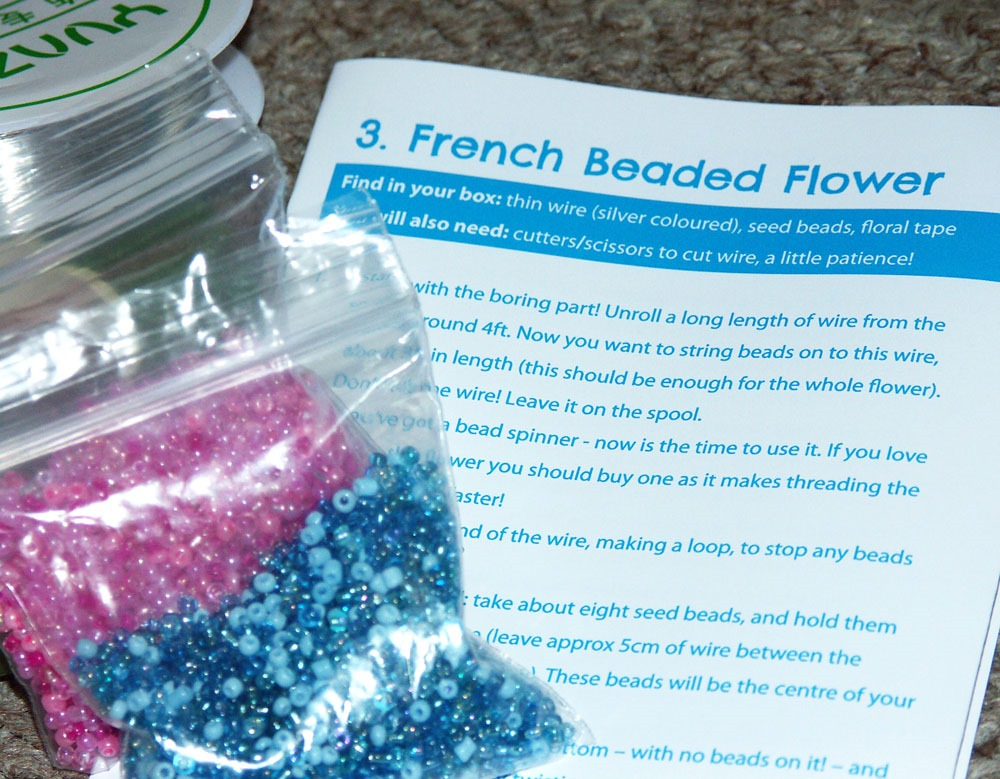 Crafty Creatives French Beaded Flower