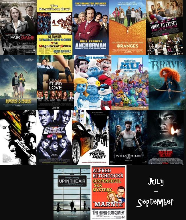 July - September 2013 Films